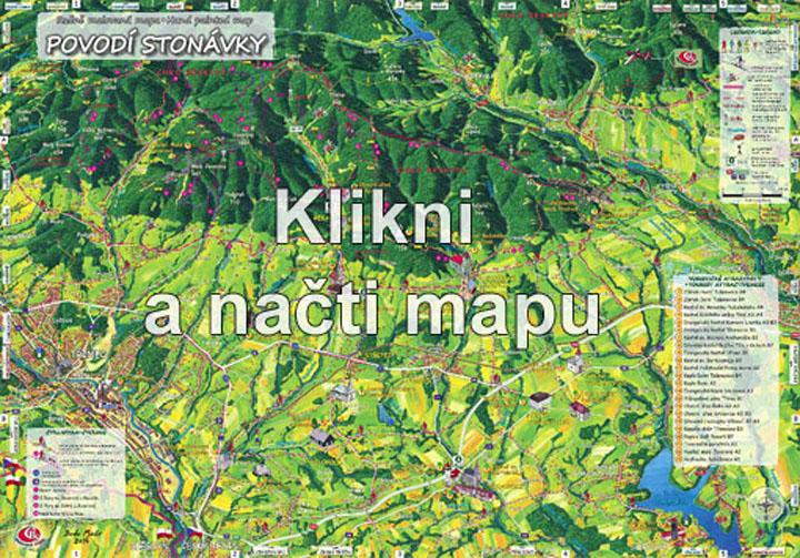 Mapa povodí stonávky